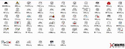 分享本博客所用的评论表情包系列