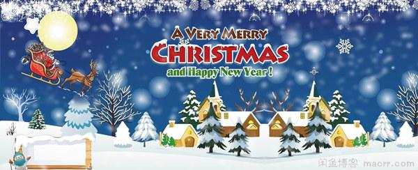 给网站添加圣诞节装饰:logo圣诞帽和雪花特效