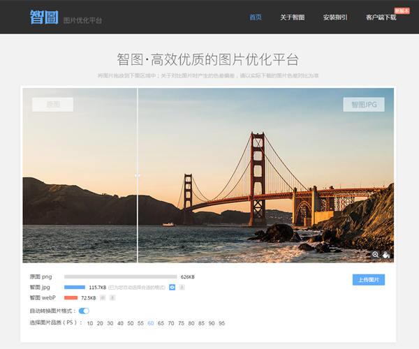推荐一款图片压缩工具——智图(包括在线和客户端)