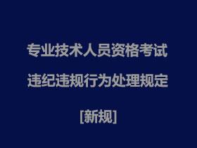【中国卫生人才网】专业技术人员资格考试违纪违规行为处理规定