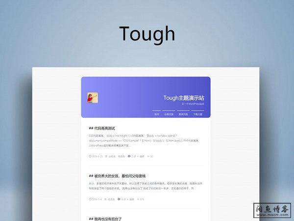 【收费主题¥15】文字博客WordPress主题:Tough